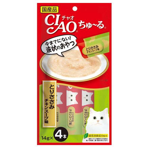 いなば CIAO ちゅ~る とりささみ チキンスープ味 14g×4本 SC-107
