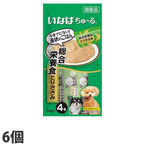 いなば 犬用ちゅ~る 総合栄養食とりささみ (14g×4本)×6個 D-105