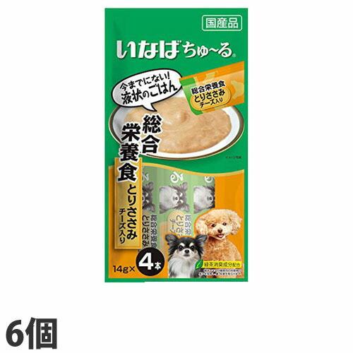 いなば 犬用ちゅ~る 総合栄養食とりささみチーズ入り (14g×4本)×6個 D-107