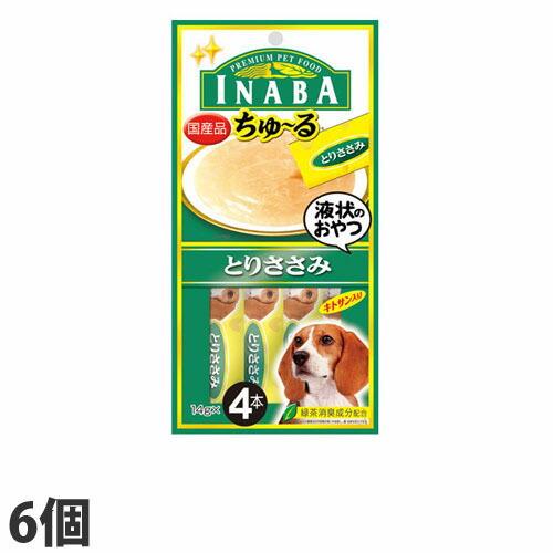 いなば 犬用ちゅ~る とりささみ (14g×4本)×6個 D-102