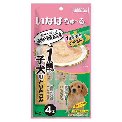 いなば wan ちゅ~る 1歳までの子犬用 とりささみ 14g×4本 DS-117