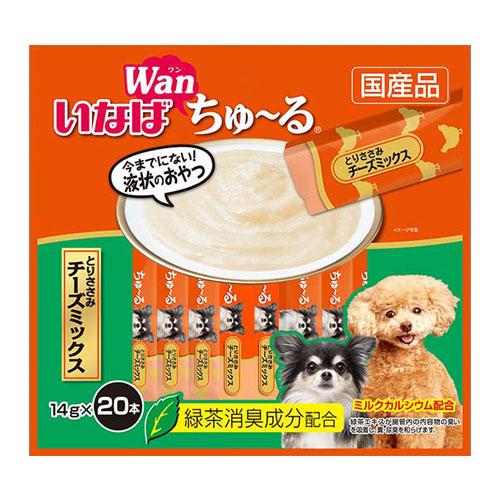 いなば wan ちゅ~る とりささみ チーズミックス 14g×20本 DS-126