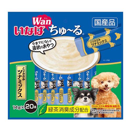 いなば wan ちゅ~る とりささみ ツナミックス 14g×20本 DS-127