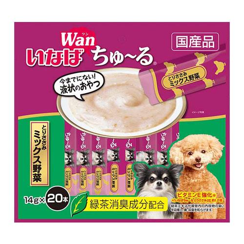 いなば wan ちゅ~る とりささみ ミックス野菜 14g×20本 DS-128