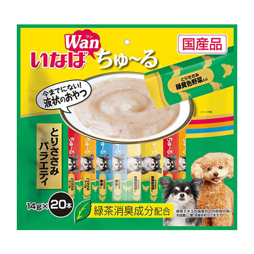 いなば wan ちゅ~る とりささみバラエティ 14g×20本 DS-129