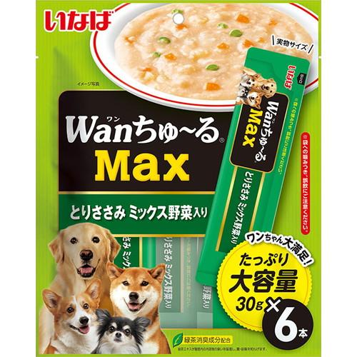 いなば wanちゅ~るMax とりささみ ミックス野菜入り 30g×6本入 TDS-22