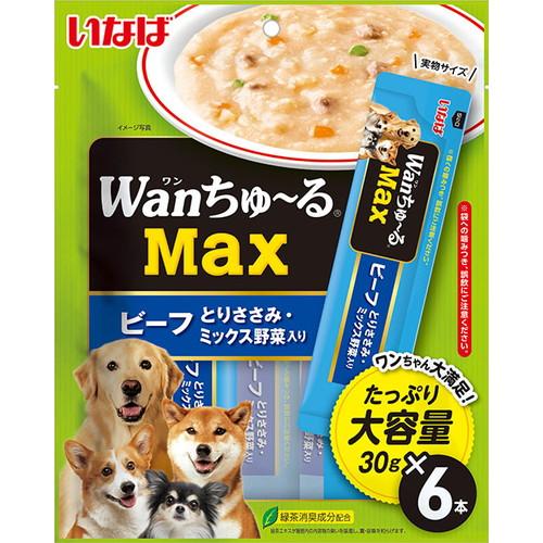 いなば wanちゅ~るMax ビーフ とりささみ・ミックス野菜入り 30g×6本入 TDS-23