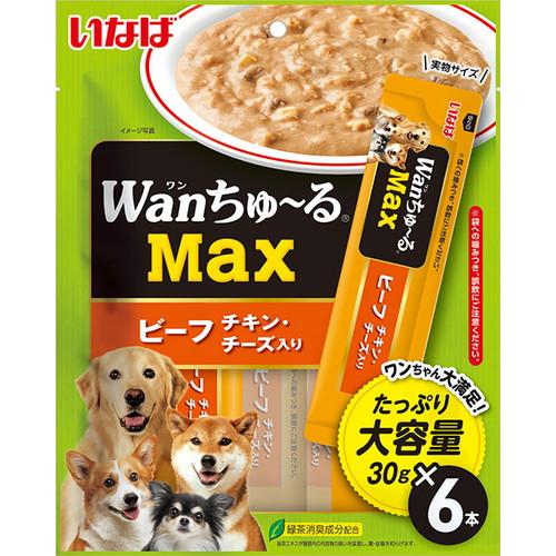いなば wanちゅ~るMax ビーフ チキン・チーズ入り 30g×6本入 TDS-24