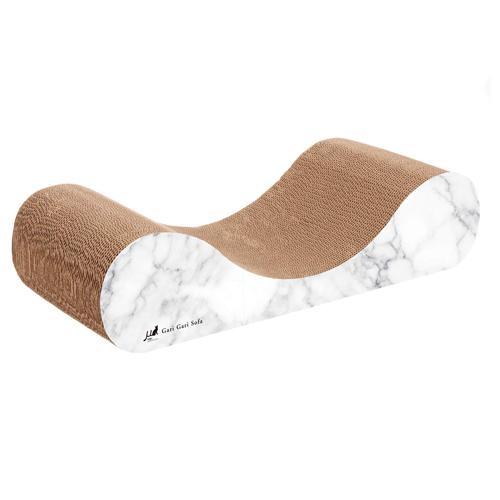 エイムクリエイツ 爪とぎ MJU ガリガリソファSK マーブル ホワイト&ローズピンク