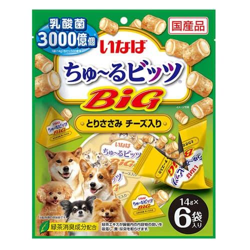 いなば ちゅ~るビッツBIG とりささみ チーズ入り 14g×6個入 DS-362