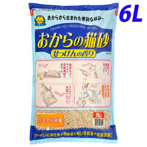 常陸化工 猫砂 おからの猫砂 せっけんの香り 6L