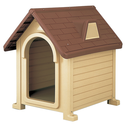 リッチェル 犬小屋 ペットハウス ブラウン DX-490
