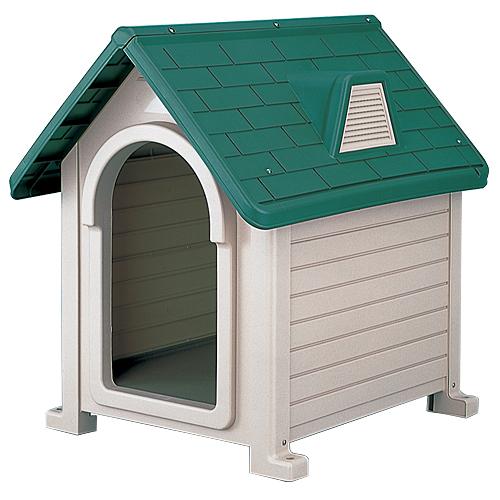リッチェル 犬小屋 ペットハウス ダークグリーン DX-490