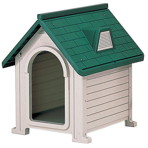 リッチェル 犬小屋 ペットハウス ダークグリーン DX-580