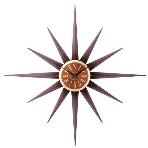 インターフォルム 掛け時計 AGULHA-アグリア- ブラウン CL-7541BN