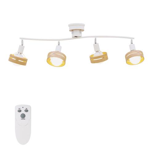 インターフォルム ARCHE(アーチェ) シーリングライト 4灯 リモコン付 電球なし ホワイト LT-7429WH
