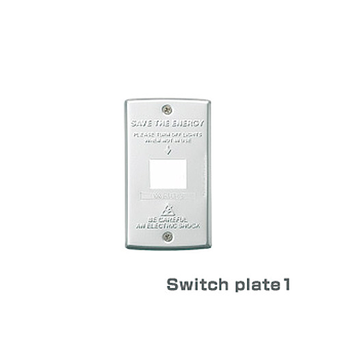 【売切れ御免】アートワークスタジオ スイッチプレート 1口タイプ「Switch plate1」(TK-2041)