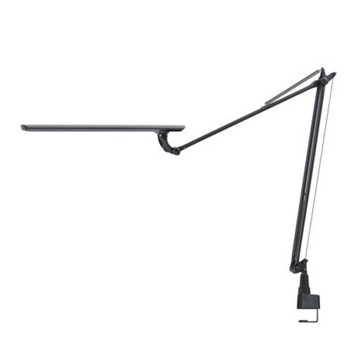スワン電器 卓上LEDライト Slimac LEDICEXARM(レディック エグザーム) LEDデスクライト オフィス クランプ式 ブラック LEX-970BK
