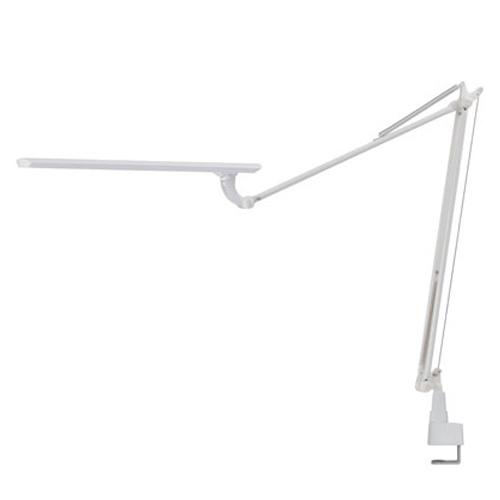 スワン電器 卓上LEDライト Slimac LEDICEXARM(レディック エグザーム) LEDデスクライト オフィス クランプ式 ホワイト LEX-970WH
