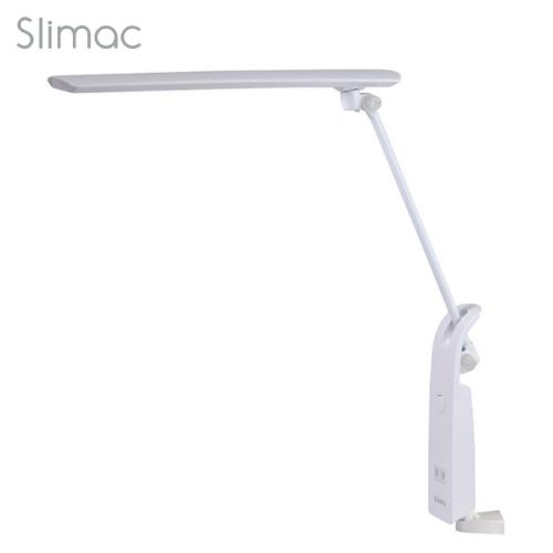 スワン電器 卓上LEDライト Slimac LEDデスクスタンド タスクライト (ブルーライトカット機能搭載) ホワイト AS-751WH