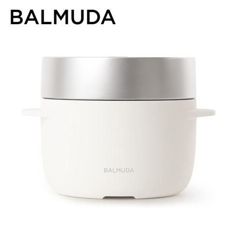 バルミューダ 電気炊飯器 3合炊き ホワイト K03A-WH