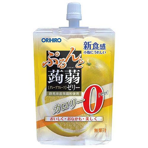 オリヒロ ぷるんと蒟蒻ゼリー スタンディング グレープフルーツ 0kcal 130g