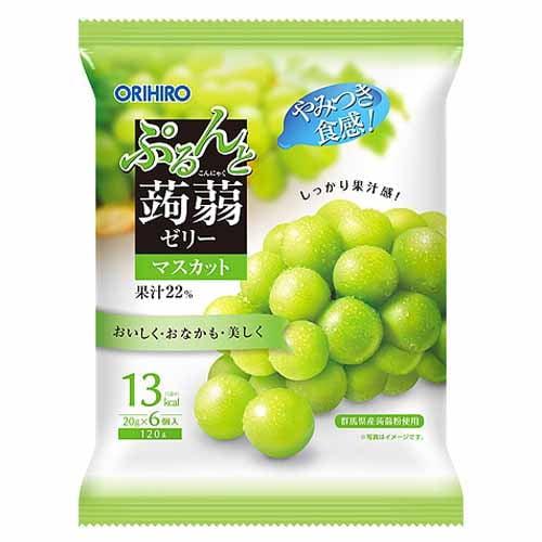 オリヒロ ぷるんと蒟蒻ゼリー 新パウチ マスカット 108g