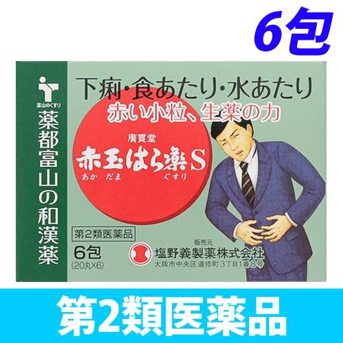 【第2類医薬品】廣貫堂 赤玉はら薬S 6包