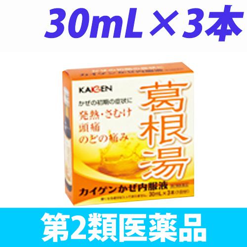 【第2類医薬品】カイゲンファーマ カイゲン かぜ内服液 30mL 3本