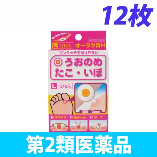 【第2類医薬品】共立薬品工業 オーラク膏H Lサイズ 12枚