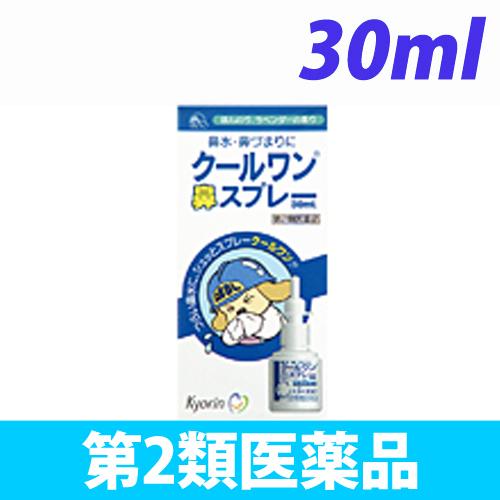 【第2類医薬品】杏林製薬 クールワン 鼻スプレー 30ml