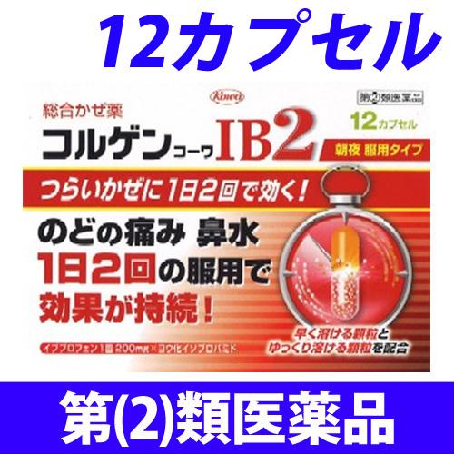 【第(2)類医薬品】興和新薬 コルゲンコーワ IB2 12カプセル