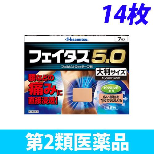 【第2類医薬品】久光製薬 フェイタス 5.0 大判サイズ 14枚