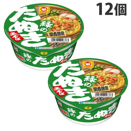 東洋水産 マルちゃん 緑のたぬき天そば(関西) カップ 101g 12個