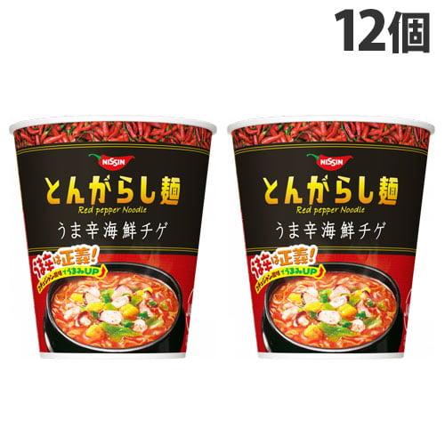 日清食品 とんがらし麺 うま辛海鮮 64g 12個