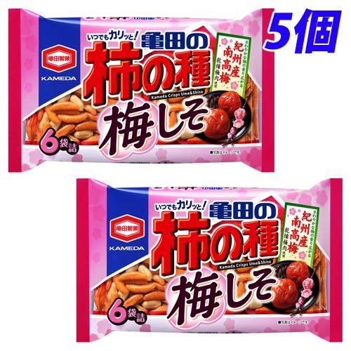 亀田製菓 亀田の柿の種 梅しそ 6袋入 5個