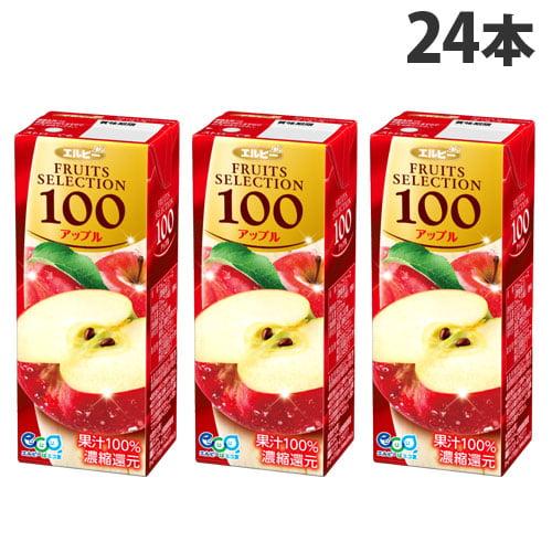 エルビー フルーツセレクション アップル100% 200ml 24本