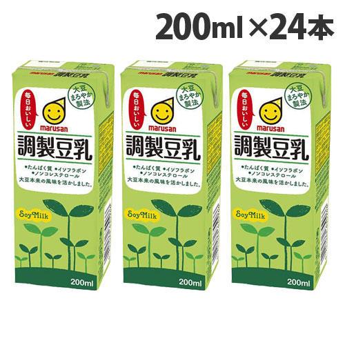 マルサンアイ 調整豆乳 200ml 24本