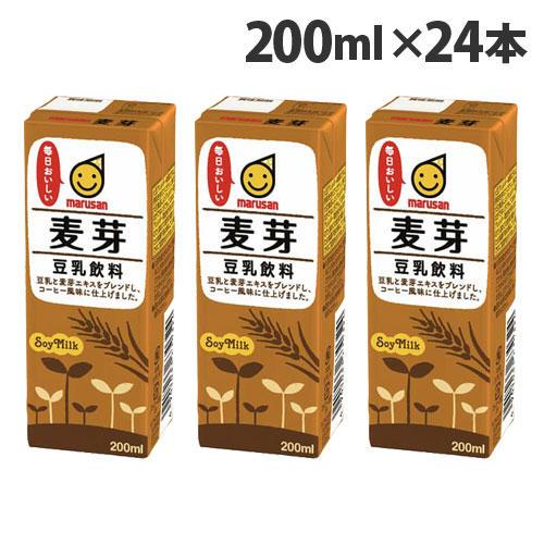マルサンアイ 豆乳飲料 麦芽 200ml 24本