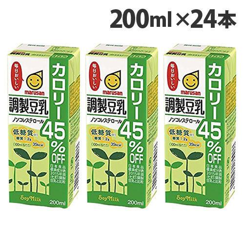 マルサンアイ 調整豆乳カロリー45%オフ 200ml 24本