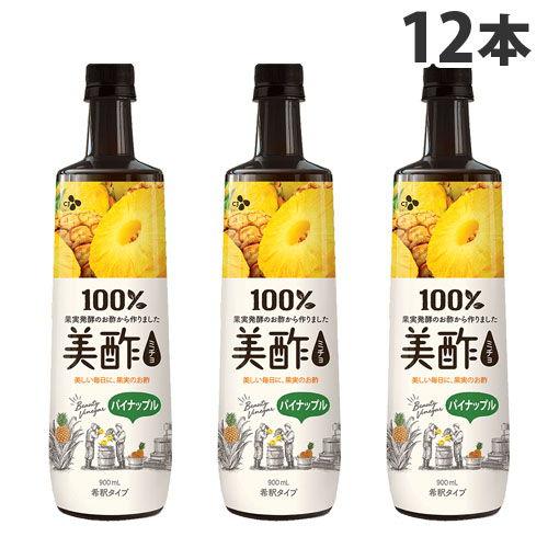 CJジャパン お酢 美酢 パイナップル味 900ml 12本