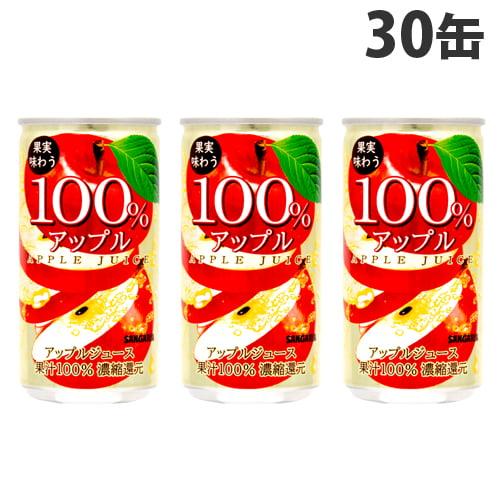 サンガリア アップル 100% 190g 30缶