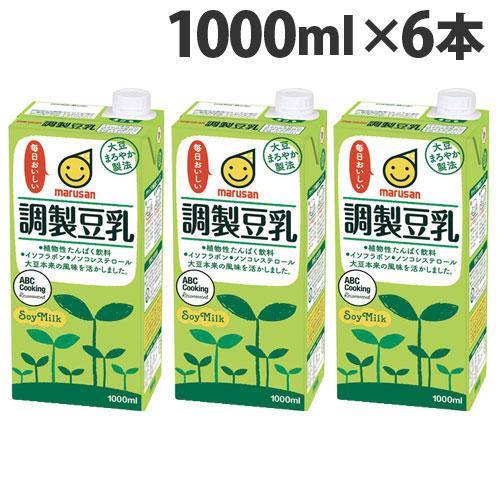 マルサンアイ 調製豆乳 1000ml 6本