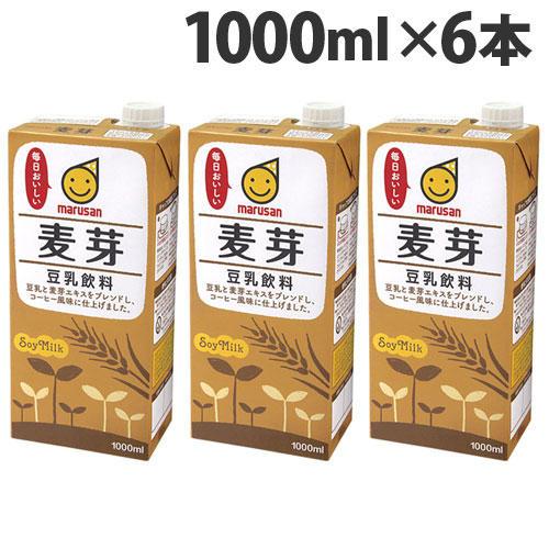 マルサンアイ 豆乳飲料 麦芽 1000ml 6本