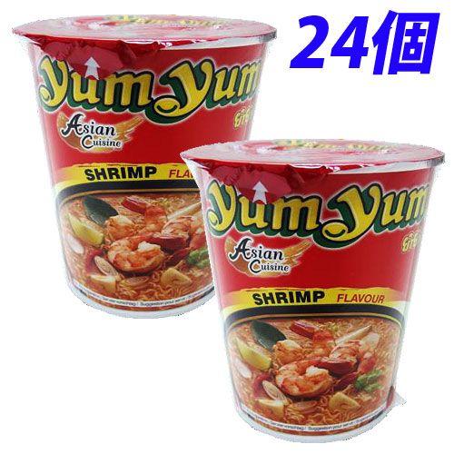 YumYum カップ麺 カップラーメン トムヤムシュリンプ味 70g 24個