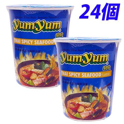 YumYum カップ麺 カップラーメン スパイシーシーフード味 70g 24個