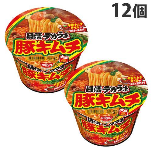 日清食品 日清デカうま 豚キムチ 101g 12個