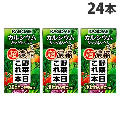 カゴメ 野菜一日これ一本超濃縮 カルシウム&マグネシウム 125ml×24本