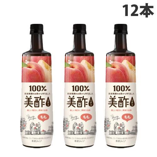 CJジャパン 美酢 もも味 900ml×12本