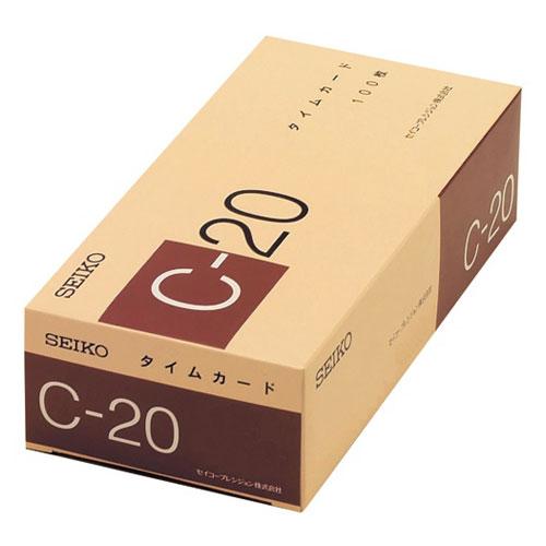 セイコープレシジョン タイムカード 20日締め用 C-20